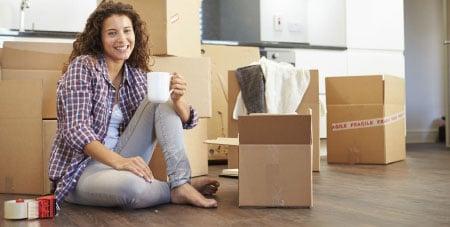 verhuisdozen inpakken door verhuishulp